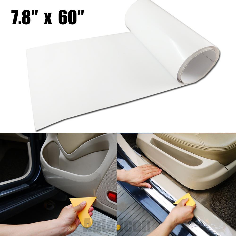 20x150cm car auto clear door sill edge paint protection vinyl film scratch sheet in interior. Black Bedroom Furniture Sets. Home Design Ideas