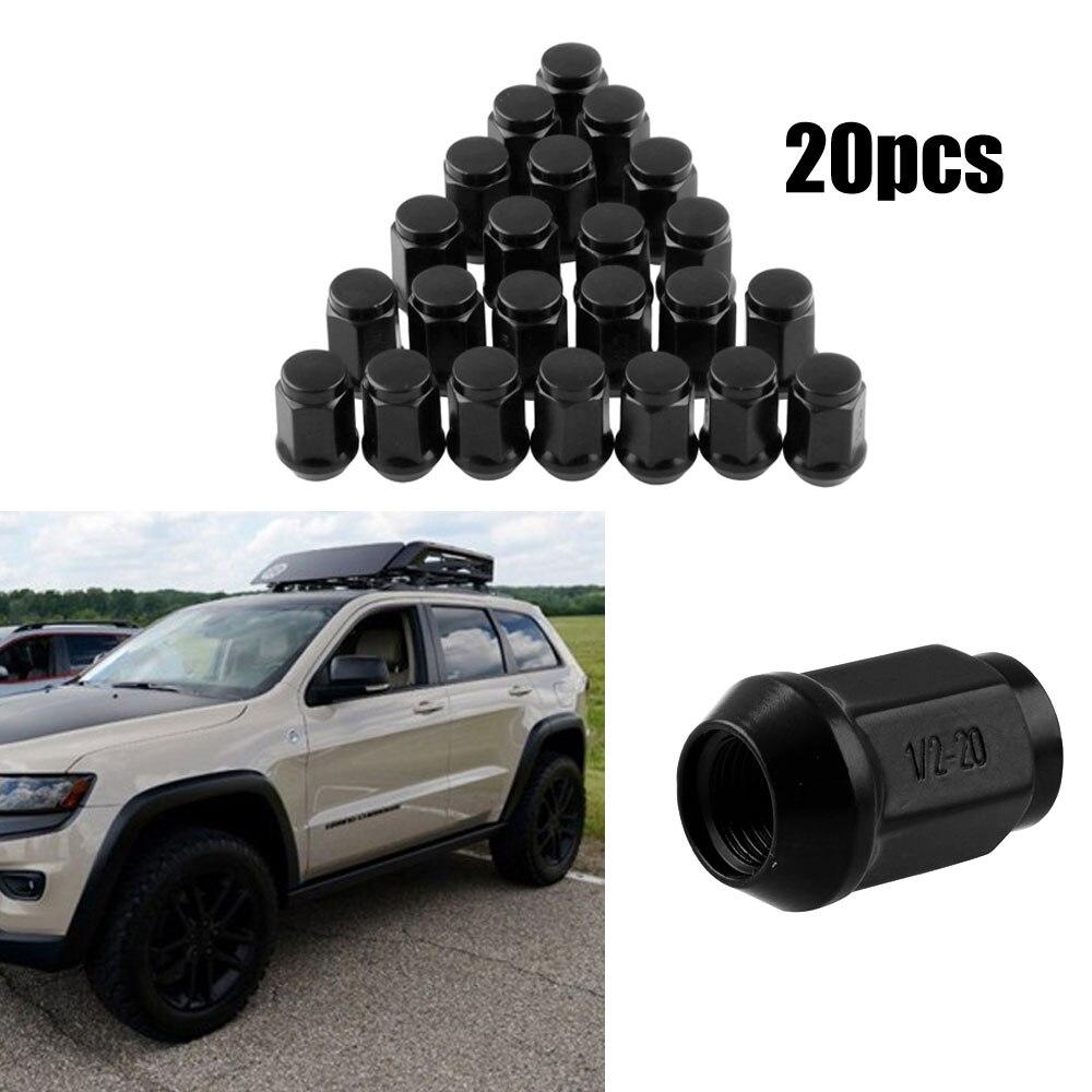 20 pçs auto roda hub parafuso tampa de metal aço prendedor clipes carro porcas da roda do carro porca hub carro estilo acessórios do carro tampas para jeep