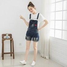 Summer fashion plus size bib denim rompers women short jumpsuit jeans for women jean overalls denim clothing women