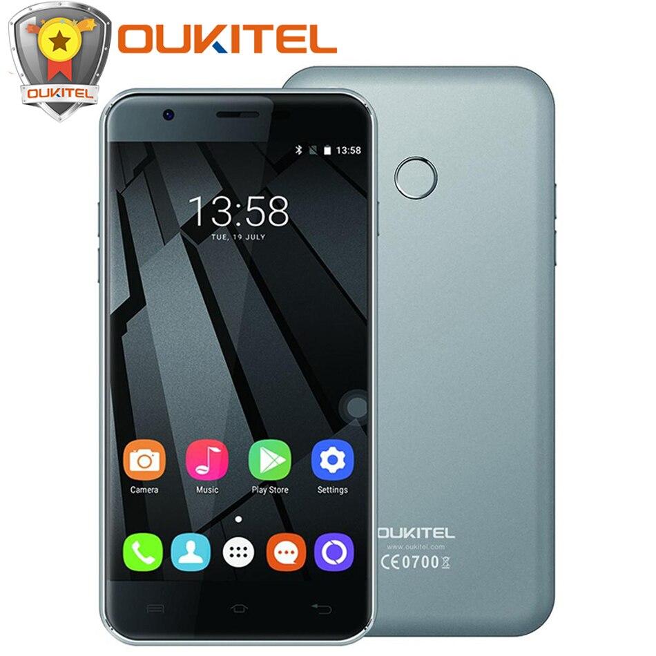 Original Oukitel U7 Plus 4G LTE Mobile Phone 5 5 Android 6 0 MTK6737 Quad Core