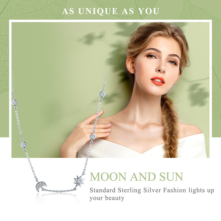 HTB1VB1ateuSBuNjSsziq6zq8pXat Mid-Year Sales 925 Sterling Silver Sparkling Moon and Star Exquisite Pendant Necklaces for Women 925 Silver Jewelry Gift SCN272