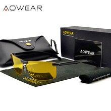 Мужские очки ночного видения, очки HD, очки для ночного вождения, мужские Поляризованные желтые солнцезащитные очки для водителя, Oculos Gafas de sol