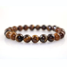Minimalist Natural Stone Tiger Eyes Beads Bracelet Charms Obsidian Buddha Meditation Braclet For Men Yoga Jewelry Pulseira Homme(China)