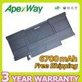 """Apexway Nueva 6700 mAh 3.7 V batería del ordenador portátil Genérico para APPLE A1405 A1369 (2011 producción) para Macbook Air 13"""""""