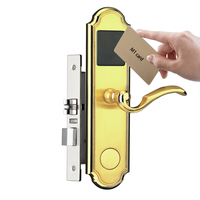 Golden color RFID home door lock electronic key card access locks
