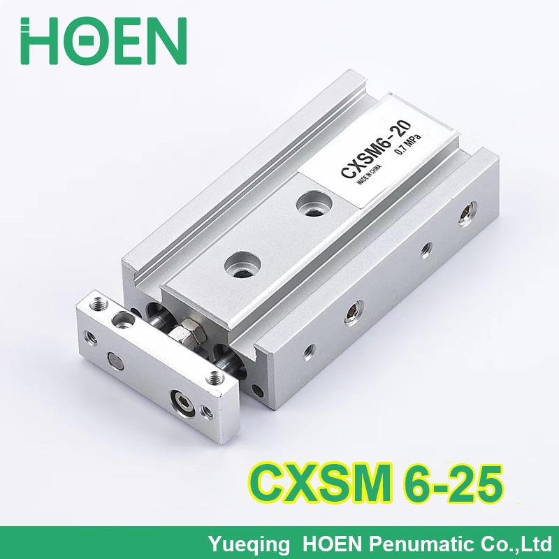 CXSM6-25 High quality double rod air cylinder pneumatic 6mm bore 25mm stroke CXSM 6-25 double acting with slide bearingCXSM6-25 High quality double rod air cylinder pneumatic 6mm bore 25mm stroke CXSM 6-25 double acting with slide bearing