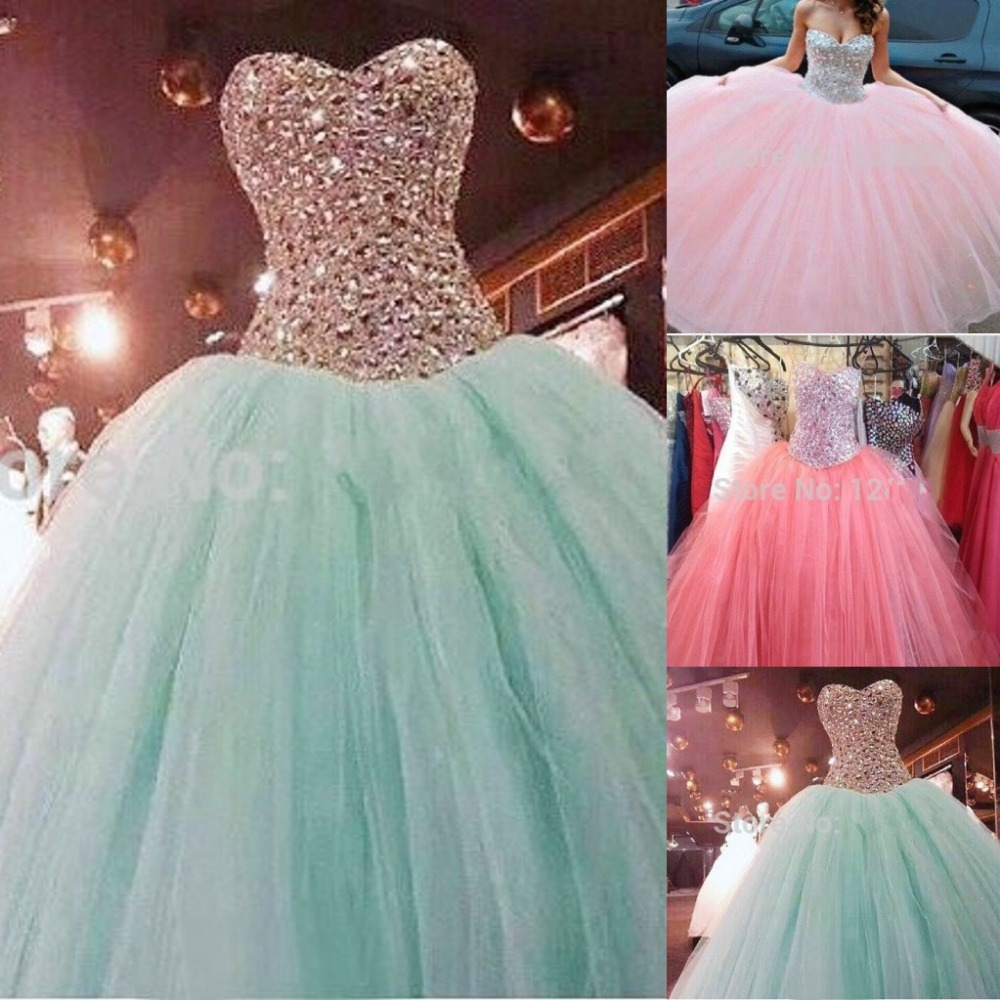 2015 Vestidos De Hot Pink Tulle Backless Cute Sparkly Sweetheart ...