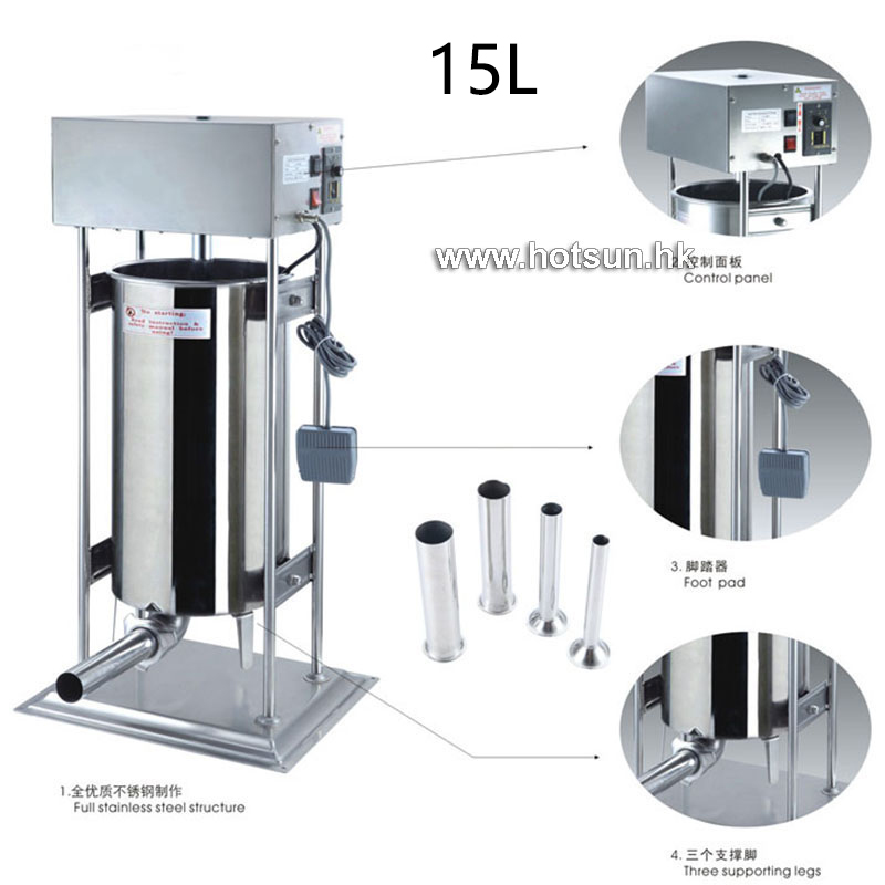 Free Shipping Heavy Duty Commercial Electric 110v 220v 15L Auto Sausage Stuffer Sausage Salami Maker Sausage Filler Machine