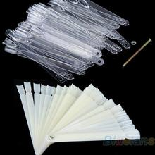 Nail Art Board Tip Stick Sticker Polish Foldable Display Beauty Practice Fan Clear White Free Shipping 0OUL 7GVA 8TMM