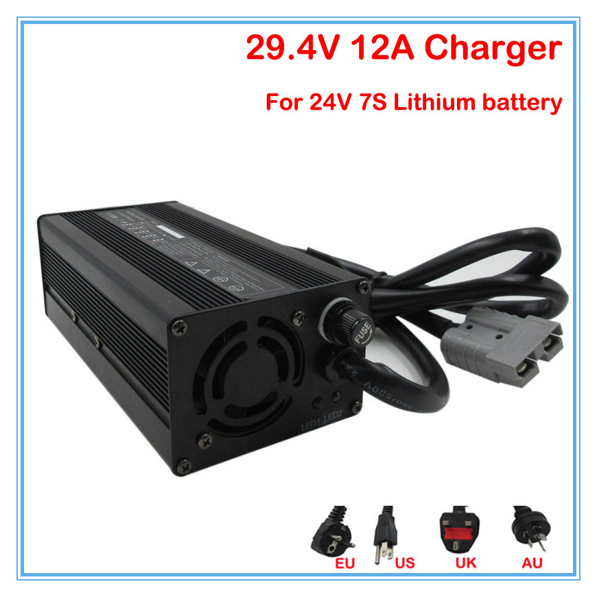 360W 24V 12A Charger Output 29 4V 12A li ion battery charger 24V Battery charger For