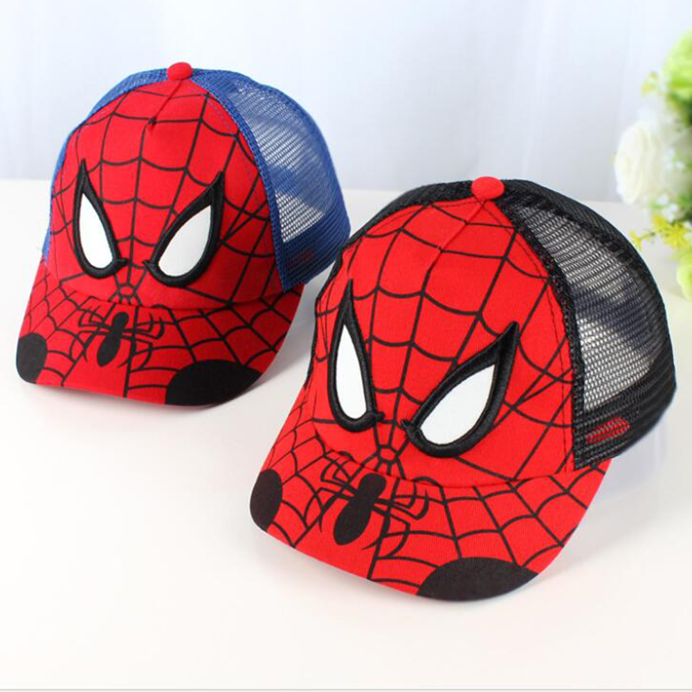 2017 Spiderman Cartoon Children   Baseball     Cap   kids Boy Girl Hip Hop Hat Spiderman sunhat cosplay accessary