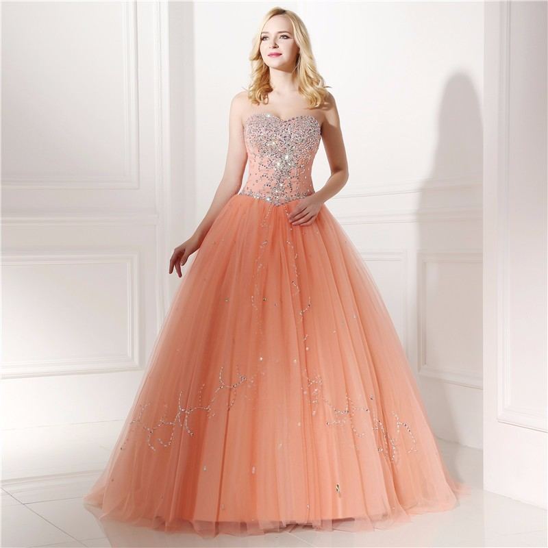 Backlackgirl 2018 New Arrival Elegant Hot Real Models Ball Gown Prom Dress  With Rhinestone Beadings Sequins Vestidos De Quince -in Prom Dresses from  ... f8cc65d52ab9
