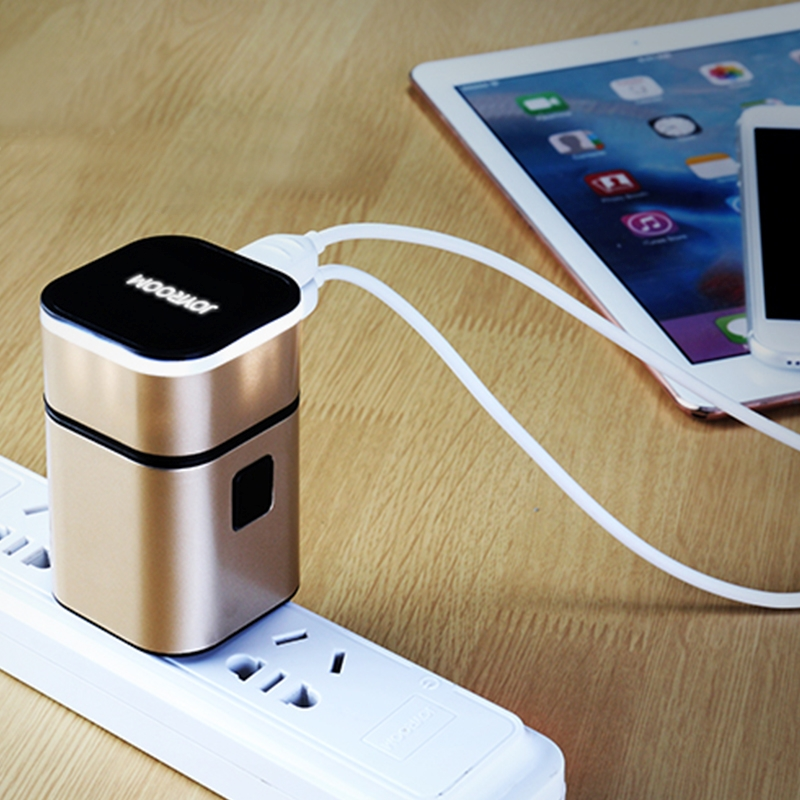Joyroom Universal Multi-function Travel Adapter Electric Plugs Sockets Converter US/AU/UK/EU with Dual USB Charging 5V 3.2A