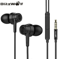 BlitzWolf BW ES1 3 5mm In Ear Noise Cancelling Earphone Stereo Earbuds Graphene Earphones With Microphone