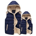 Autumn Winter Vest female Outerwear 2016 Fashion Sleeveless Jacket Women Hooded Single Breasted Slim Waistcoat Plus Size SS221a