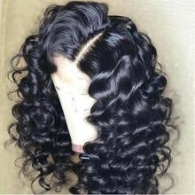 ลูกไม้หยักด้านหน้าด้านหน้า 360 ลูกไม้ด้านหน้ามนุษย์ Wigs สำหรับผู้หญิงสีดำ 180% ความหนาแน่นก่อน Plucked Hairline ธรรมชาติ Aimoonsa Remy