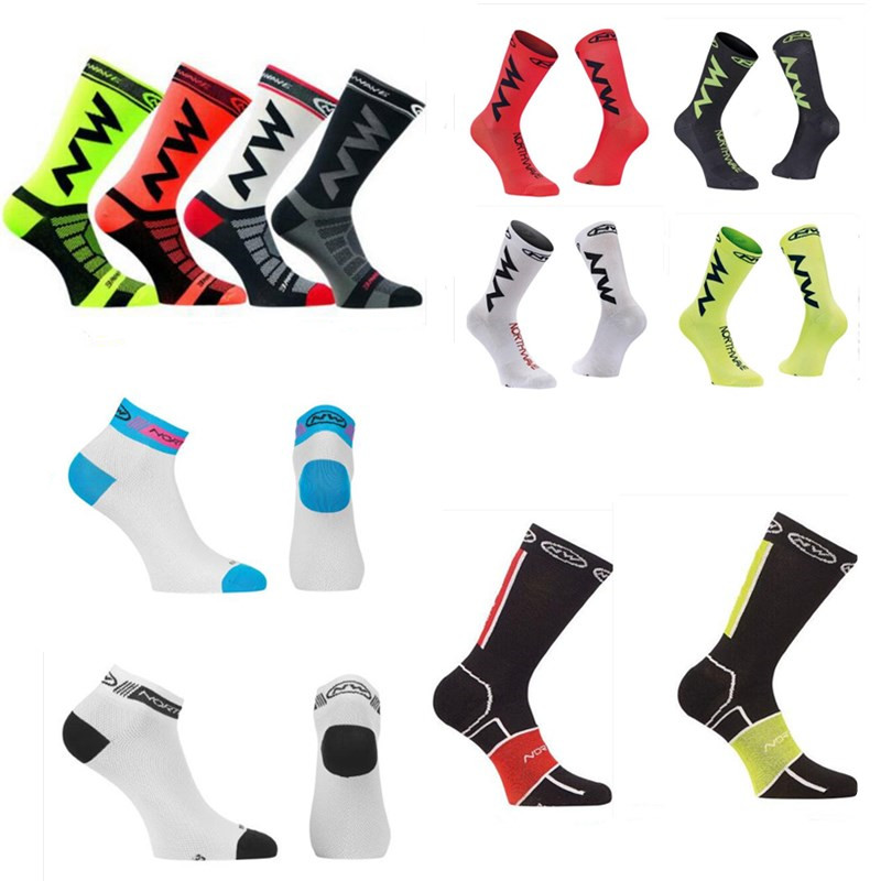 2018 New Men Women Coolmax Cycling Socks Breathable Basketball Running Football Socks