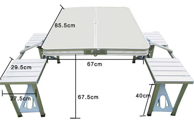 Aluminum Alloy Folding Dining Table Portable Outdoor Camping
