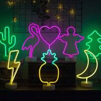 2018 Newest Flamingo Light INS Home Decoration Cactus Pineapple Home Desk Lighting for Kids Gift Lustre Novelty Baby Sleep Light