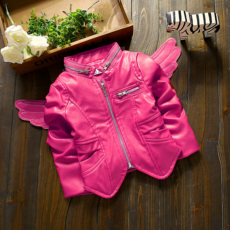 Kids Pink Leather Jacket | Jackets Review