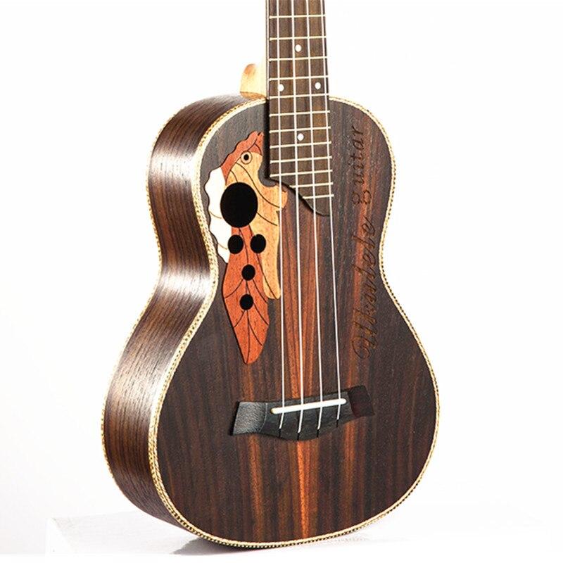 Ukulele 23 Hawaiian Mini Guitar 4 String Instrument Ukelele Rosewood music instrument ukulele 23 Electric Ukulele with Pickup EQ