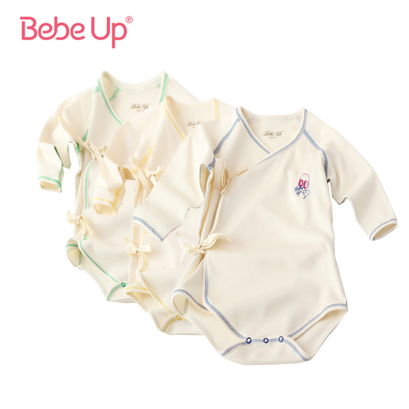 Born to Ski Long Sleeve Cotton Baby Vests for Boys Grils