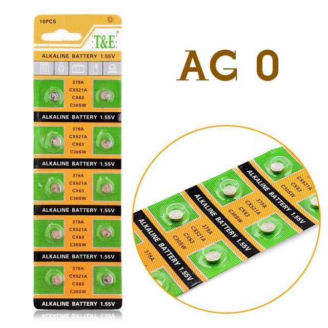 11.11 Sale 20pcs/Lot= 1pack , AG0 LR521 379 1.55 V Cell Battery Button Battery ,Watch Coin Battery,