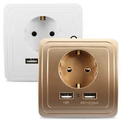 1.5a/2A двойной Порты USB Умный дом стены Зарядное устройство Адаптеры питания розетка Панель ЕС Plug Крепление бытовой техники Управление модуль