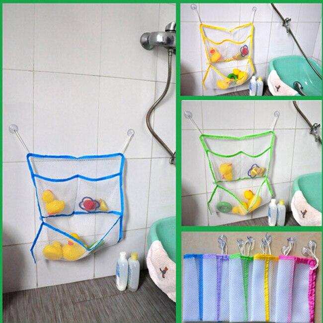 Aliexpress Com Buy Baby Kids Children Shower Bath Toys Box Tidy Storage Suction Household Bathroom Stuff Organizer Net Mesh Bag Bunny Bag From Reliable