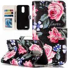 Luxury Case For LG K8 K10 2017 L90 G3 Mini Leather Flip Lady Cover Cases Card Holder Flower Mandala Peony Girl Phone Coque P01Z