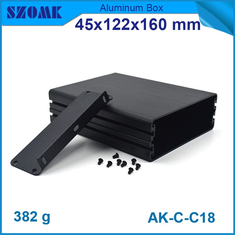 4 pieces aluminum enclosure outdoor junction aluminum box 45(H)x122(W)x160(H)mm electronic metal enclosure 4pcs a lot diy plastic enclosure for electronic handheld led junction box abs housing control box waterproof case 238 134 50mm
