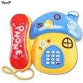Bebé Juguetes de Sonido Luz de Setas de Dibujos Animados de La Primera Infancia 0-12 Meses Teléfono Musical Para Niños Juguetes Electrónicos Teléfono Color Al Azar