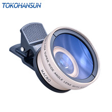 TOKOHANSUN New HD 37MM 0.45x Super Wide Angle Lens with 12.5x Super Macro Lens for iPhone LG HTC Samsung Sony Camera lens Kit(China)