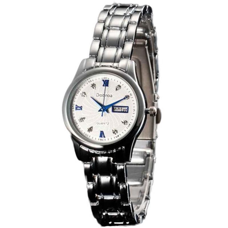 Irisshine Brand Luxury Unisex Watch Couple Gift  Men Women Calendar Watch Steel Strip Waterproof Quartz Analog Wrist Watch #0500