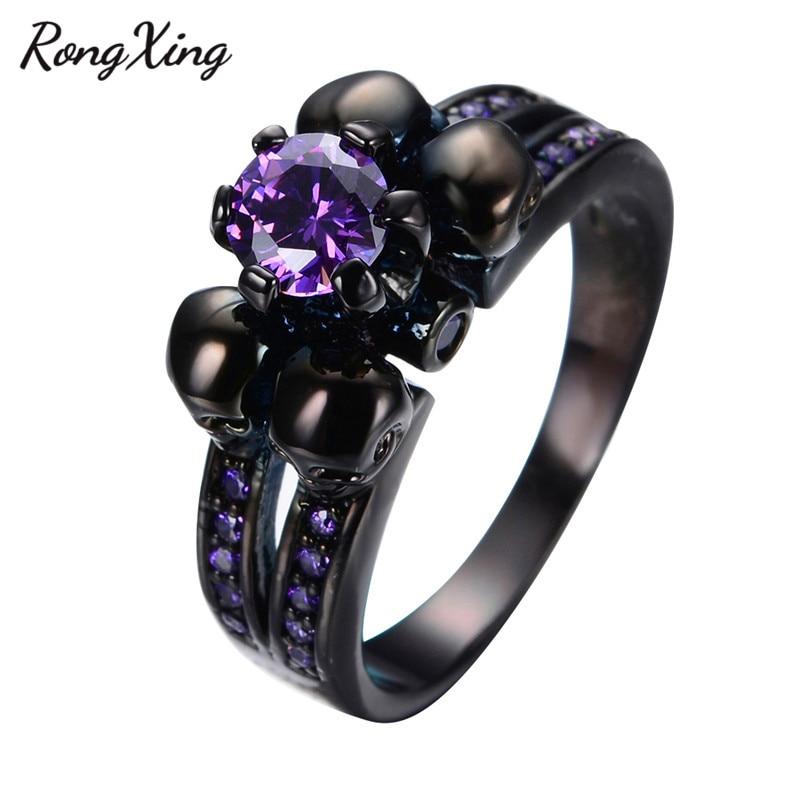 Purple Diamond Wedding Rings 001 - Purple Diamond Wedding Rings