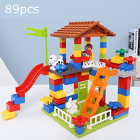 Children's Educational Building Blocks Bricks Natural Tree Play Paradise Legoingly Duploed Kids city House Toys Christmas Gifts