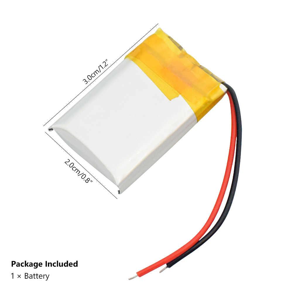 300mah 602030 3.7vリチウムポリマー電池、bluetooth MP3 MP4スマート時計ワイヤレスカードオーディオレコーダー充電式リチウムイオン電池