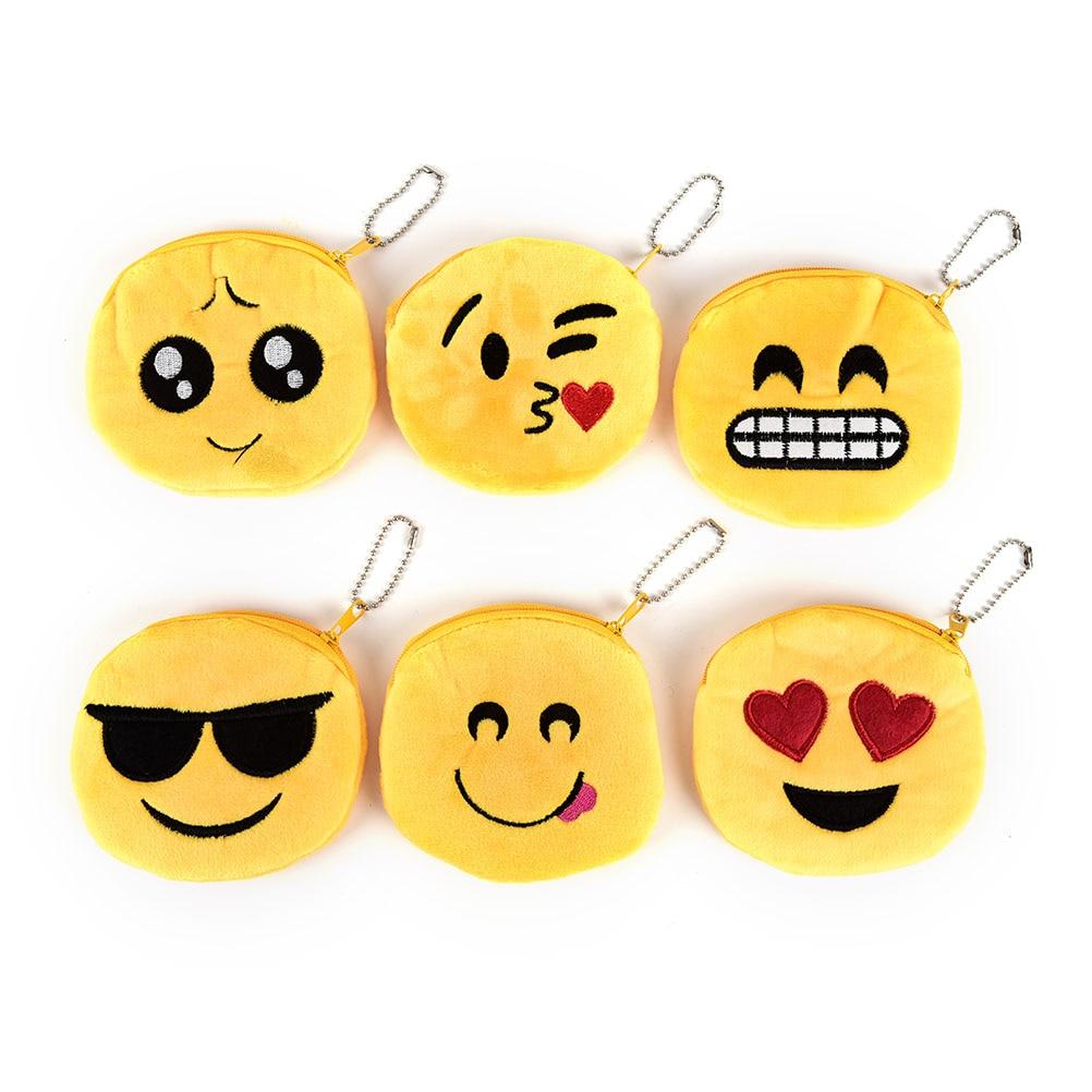 New Cute Style Novelty Smile Zipper Plush Coin Purse Kawaii Children Bag Women Wallets Mini Change Pouch Bolsa