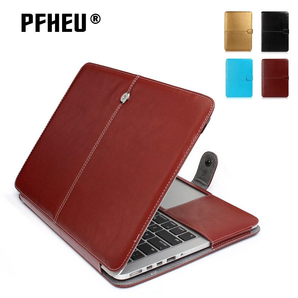 2017 Fashion Men Felt Laptop Sleeve 11 12 13 Notebook Bag For Apple Tas Macbook Pro Air Retina 14 15 Inch Pu Leather Case