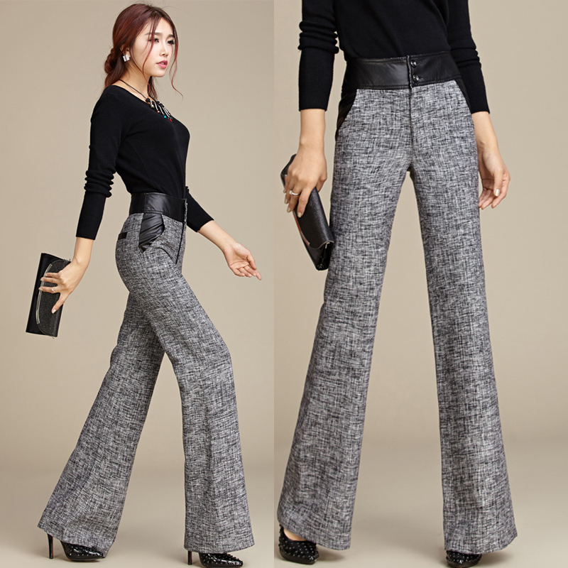 Popular Grey Trousers Women Wide Leg-Buy Cheap Grey Trousers Women ...
