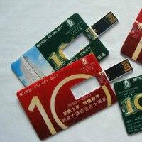 100 рис/лот 1 ГБ 4 г 8 г 16 г кредитная карта USB флэш накопитель настроены Ручка Drive персонализированные как футбольная команда логотип дизайн фле