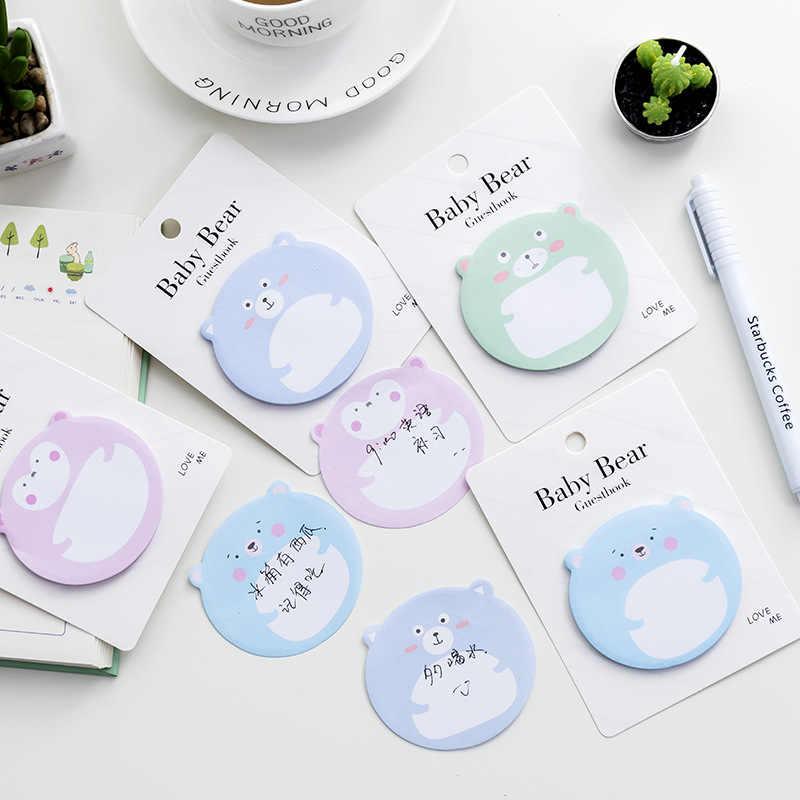 30 hojas/lote lindo papel de cerveza notas adhesivas Bloc de notas marcapáginas Kawaii papelería coreana accesorios de oficina suministros escolares