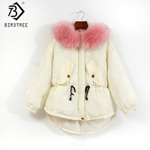 New 2017 Oversized Winter Cotton Down Women Long Zipper Coats Parka Thicken Female Warm Soft Fur Collar Lady Cloak Hoody C79905A