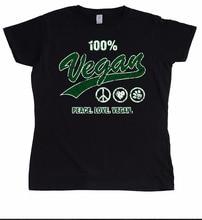 100% VEGAN – Peace. Love. Vegan. – women's shirt / girlie