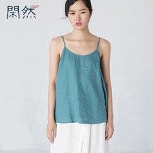 Xian Ran 2017 Women Halter Top Women Summer Style Sexy Sleeveless Linen Blouse Vest Loose Casual 100% Linen Tops Free Shipping