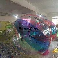 zorb ball in sports and entertainment Water Paly Equipment swimming pool rolling water roller exciting bouncing balls