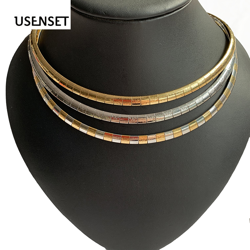 USENSET New Style butterfly Charm Collar  High Quality Stainless Steel Girls Jewelry Women Choker Necklace Chain 2019