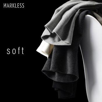 Markless Col Roulé Coton T-shirt Hommes Automne Hiver Chaud À Manches Longues T-shirt Plus La Taille M-3XL Multi-couleur camisetas hombre 7624