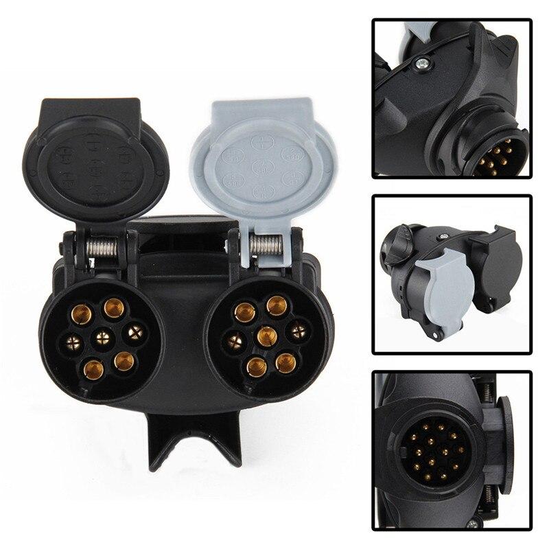 Pin Connector Car Accessories Connector Plug 13 Pin To 7 Pin Trailer Light Board Extension Adaptor Socket Plug Caravan Towing