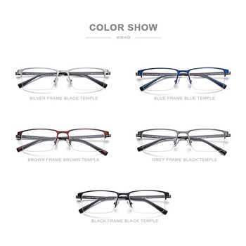 FONEX Alloy Glasses Frame Men Ultralight Square Myopia Prescription Eyeglasses 2019 Metal Half Optical Frames Screwless Eyewear